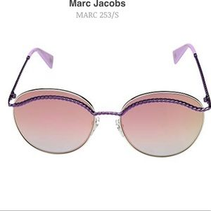 NEW Marc Jacobs Pink/Purple Reflective Sunglasses